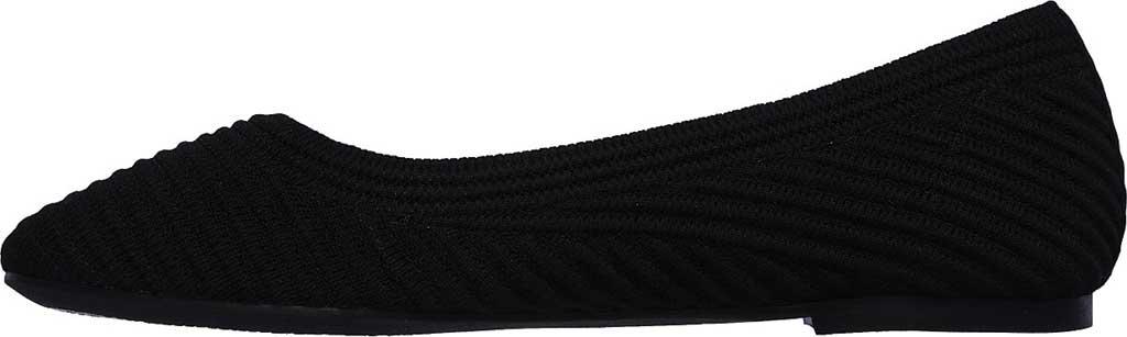 Women's Skechers Casey Ballet Flat, Black, large, image 3