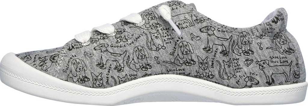 Women's Skechers BOBS Beach Bingo Love Pups Sneaker, Gray, large, image 3