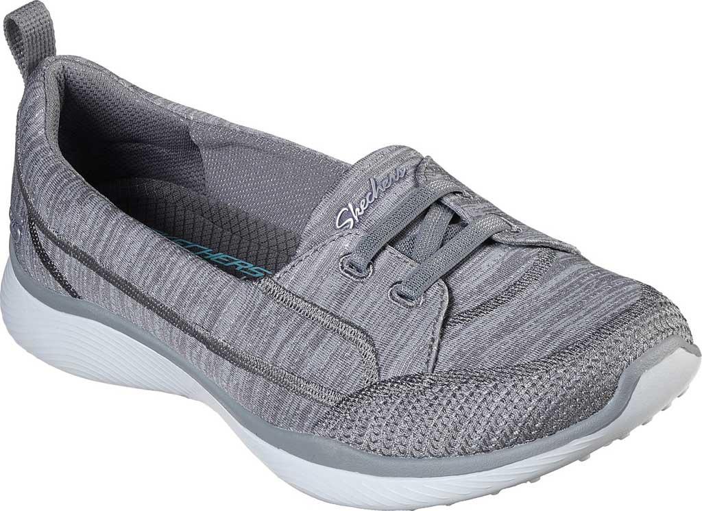 Women's Skechers Microburst 2.0 Best Ever Slip On, Gray, large, image 1