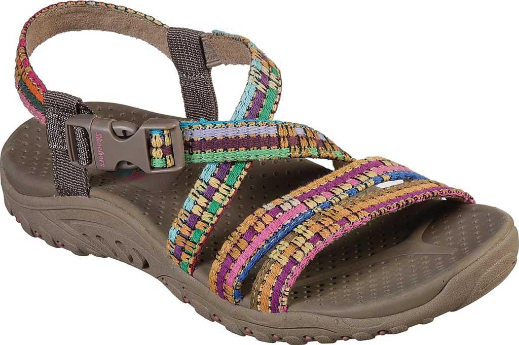 Women's Skechers Reggae Sew Me Active Sandal, Taupe/Multi, large, image 1