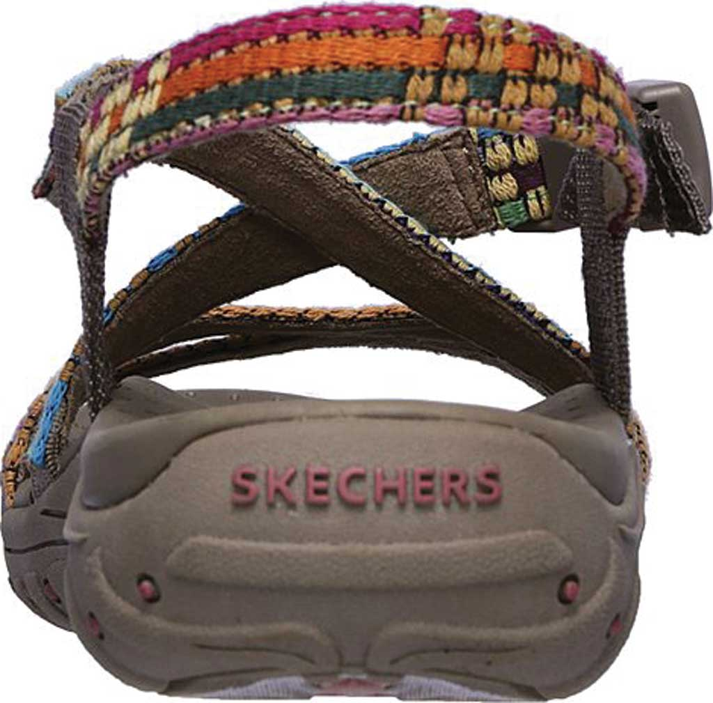 Women's Skechers Reggae Sew Me Active Sandal, Taupe/Multi, large, image 4