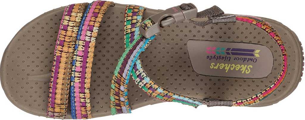 Women's Skechers Reggae Sew Me Active Sandal, Taupe/Multi, large, image 5