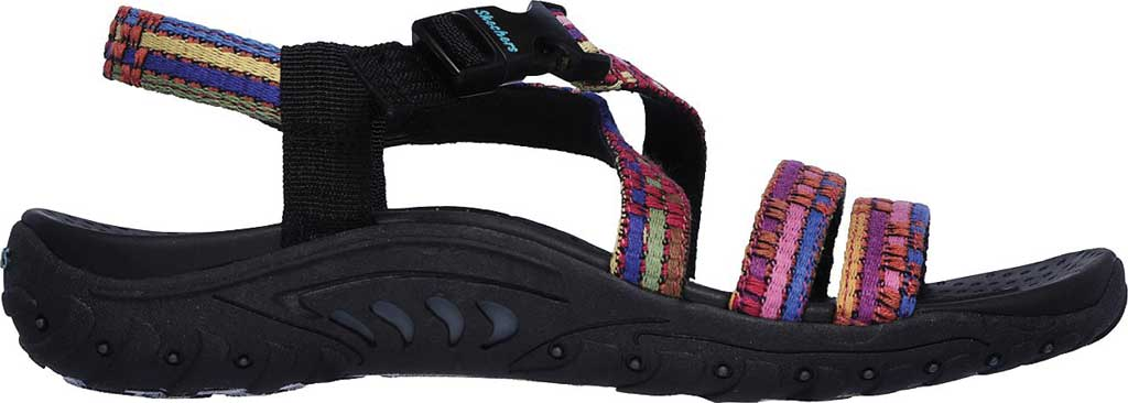 Women's Skechers Reggae Sew Me Active Sandal, Black/Multi, large, image 2