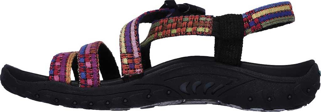 Women's Skechers Reggae Sew Me Active Sandal, Black/Multi, large, image 3
