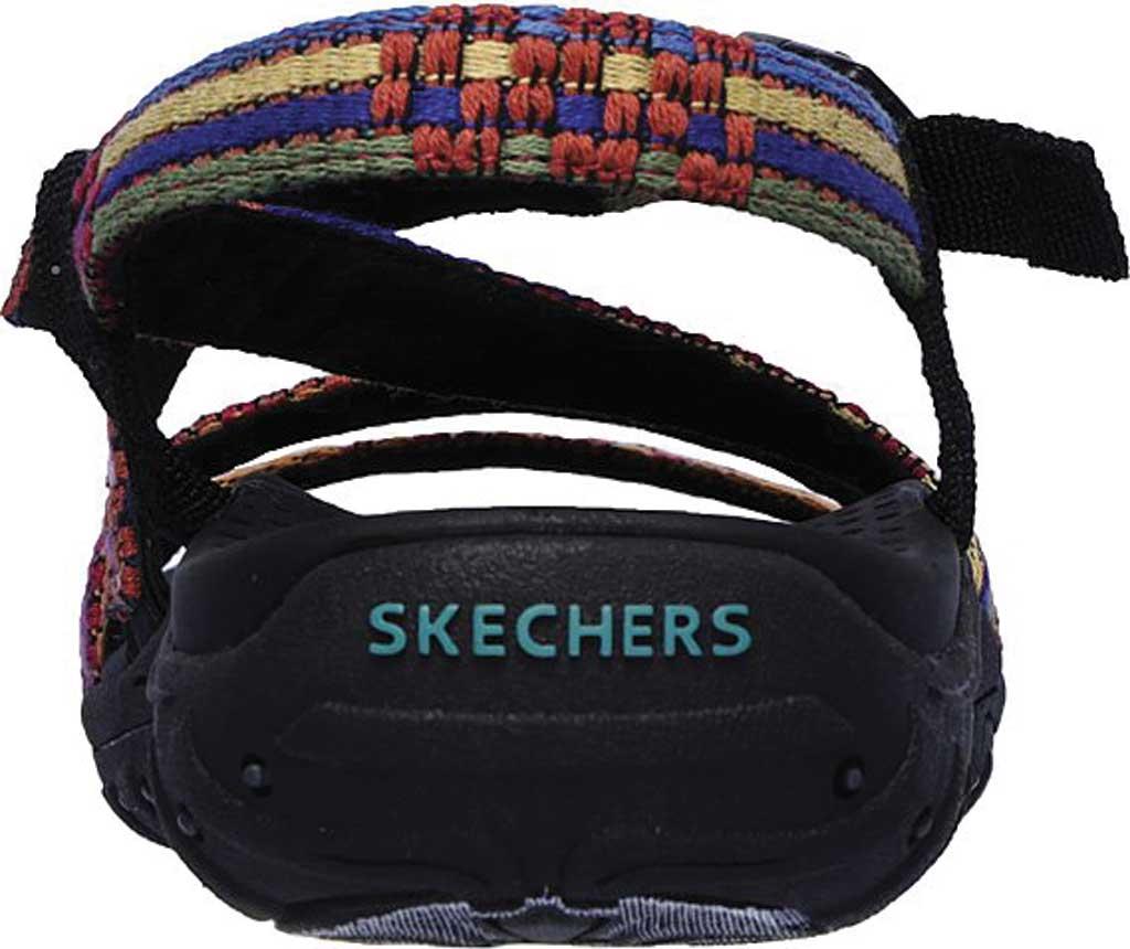 Women's Skechers Reggae Sew Me Active Sandal, Black/Multi, large, image 4