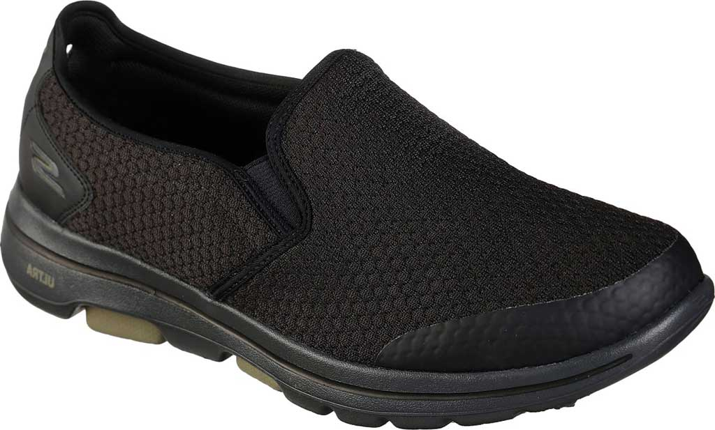 Men's Skechers GOwalk 5 Apprize Slip On Sneaker, Black/Black, large, image 1