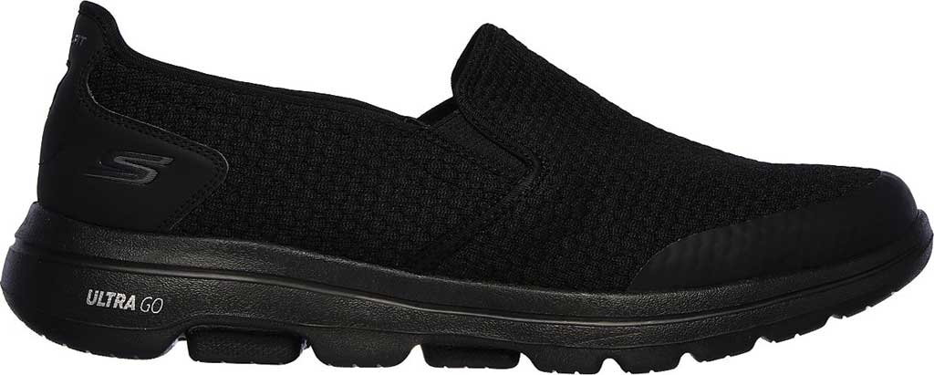 Men's Skechers GOwalk 5 Apprize Slip On Sneaker, Black/Black, large, image 2