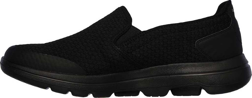 Men's Skechers GOwalk 5 Apprize Slip On Sneaker, Black/Black, large, image 3