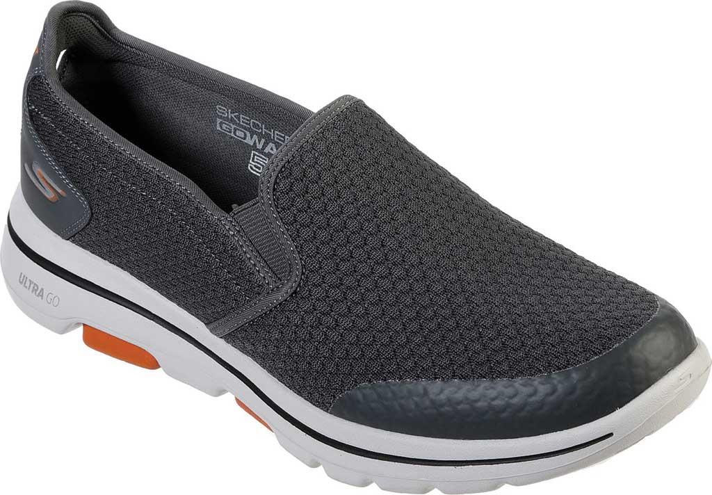 Men's Skechers GOwalk 5 Apprize Slip On Sneaker, Charcoal, large, image 1