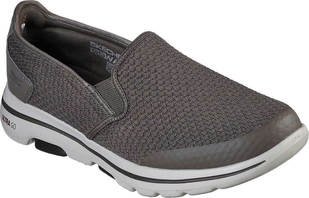 Men's Skechers GOwalk 5 Apprize Slip On Sneaker, Khaki, large, image 1