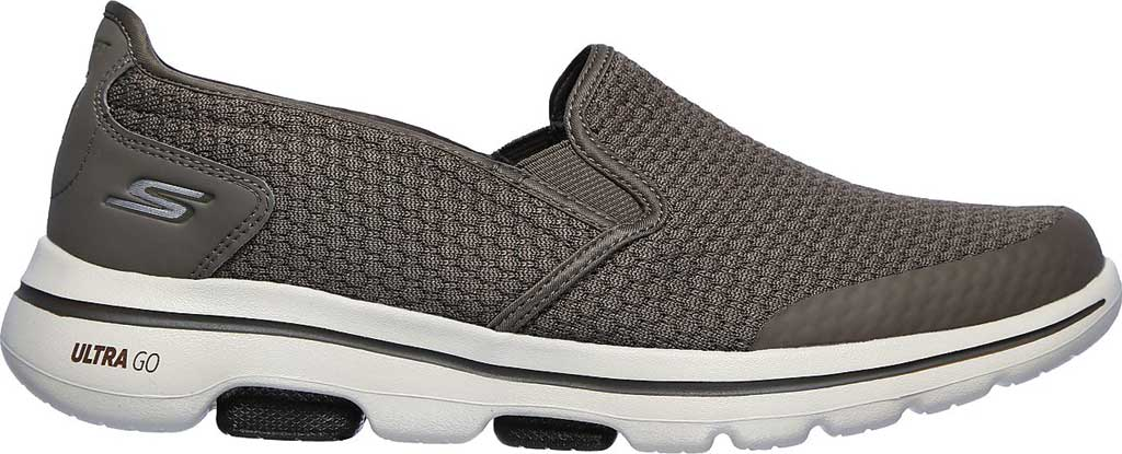 Men's Skechers GOwalk 5 Apprize Slip On Sneaker, Khaki, large, image 2