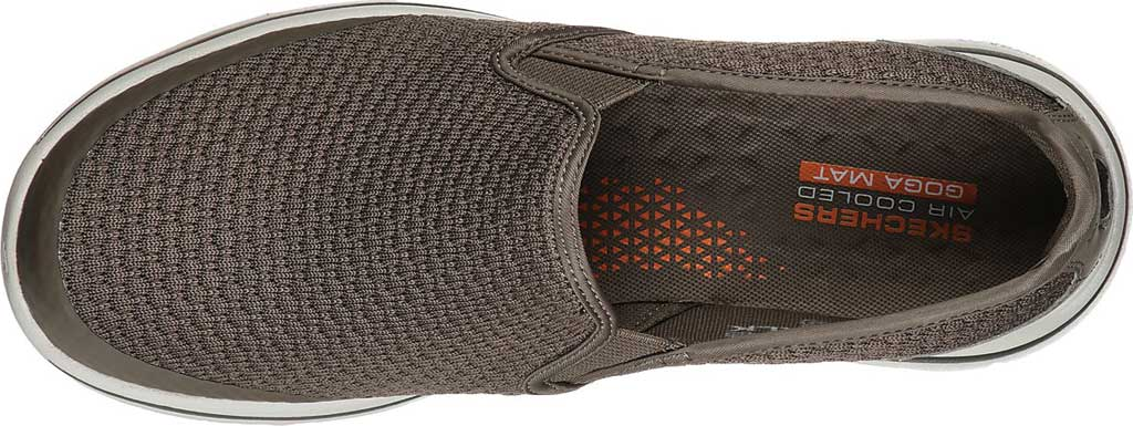 Men's Skechers GOwalk 5 Apprize Slip On Sneaker, Khaki, large, image 4