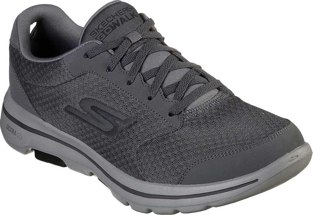Men's Skechers GOwalk 5 Qualify Walking Sneaker, Charcoal/Black, large, image 1