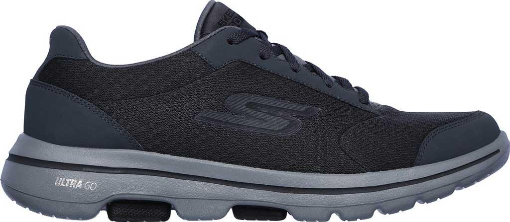 Men's Skechers GOwalk 5 Qualify Walking Sneaker, Charcoal/Black, large, image 2