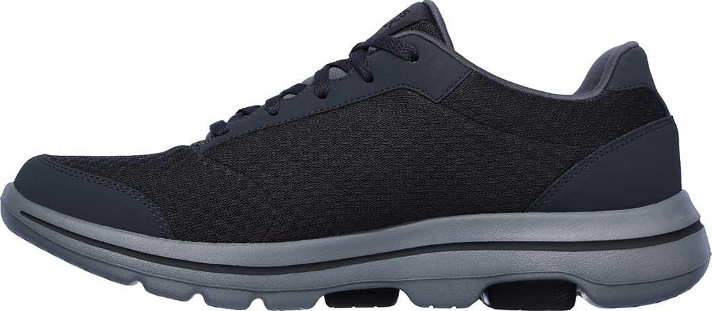 Men's Skechers GOwalk 5 Qualify Walking Sneaker, Charcoal/Black, large, image 3