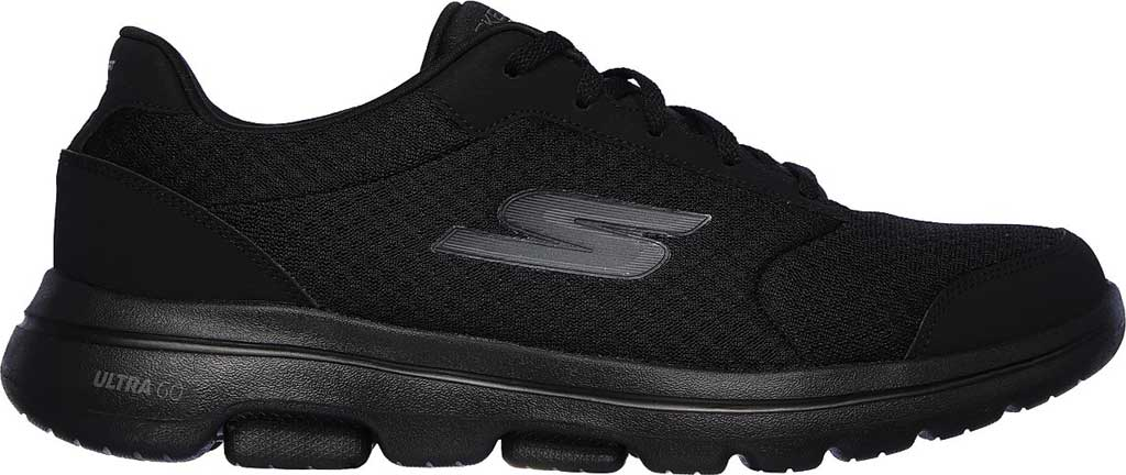 Men's Skechers GOwalk 5 Qualify Walking Sneaker, Black/Black, large, image 2