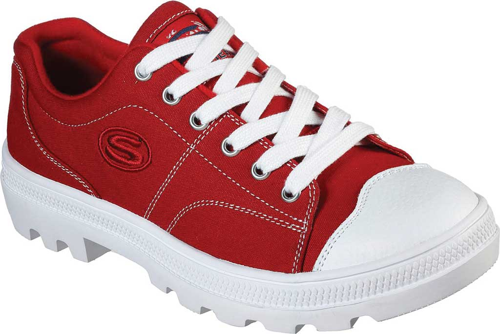 Women's Skechers Roadies True Roots Sneaker, Red, large, image 1