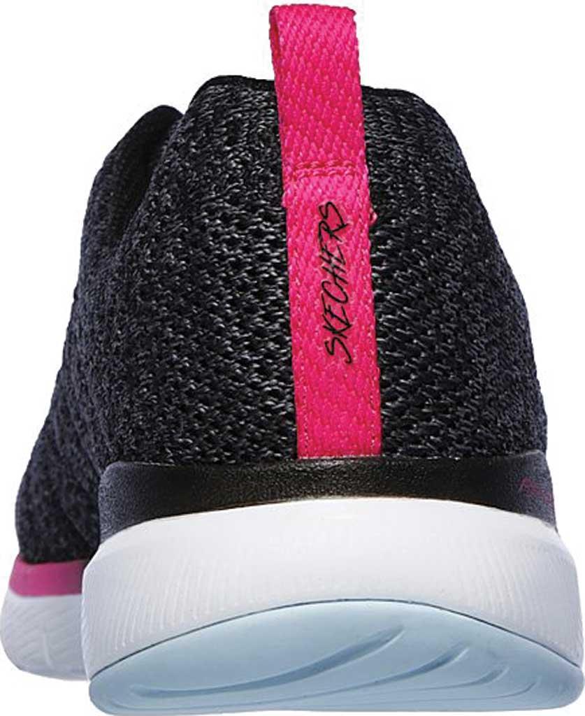 Women's Skechers Flex Appeal 3.0 Reinfall Training Sneaker, Black/Multi, large, image 4