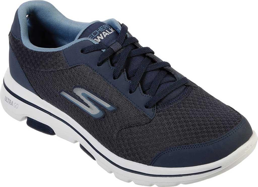 Men's Skechers GOwalk 5 Qualify Walking Sneaker, Navy, large, image 1