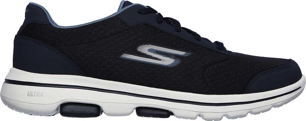 Men's Skechers GOwalk 5 Qualify Walking Sneaker, Navy, large, image 2