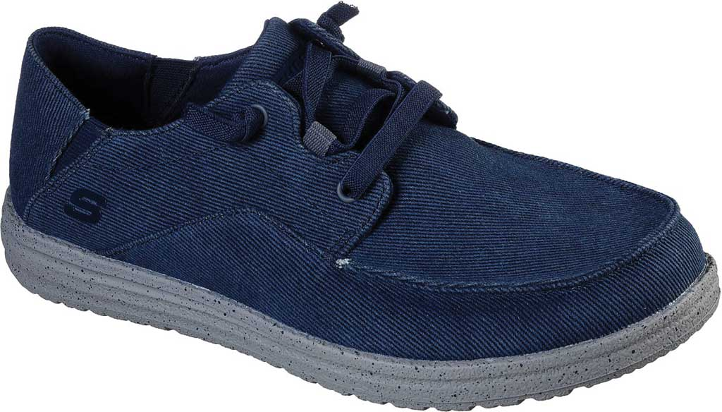 Men's Skechers Melson Volgo Sneaker, Navy/Gray, large, image 1