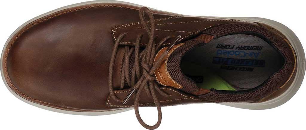 Men's Skechers Relaxed Fit Doveno Vander Sneaker, Dark Brown, large, image 4