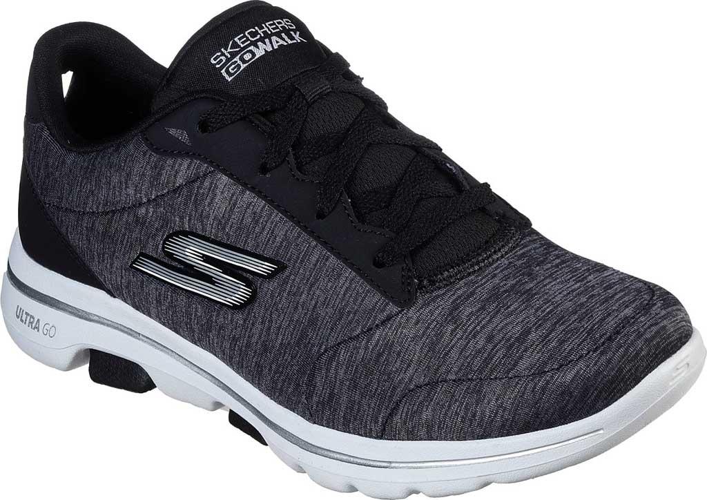 Women's Skechers GOwalk 5 True Sneaker, Black/White, large, image 1