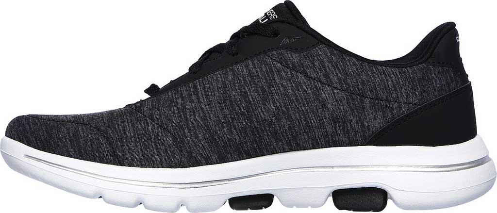 Women's Skechers GOwalk 5 True Sneaker, Black/White, large, image 3