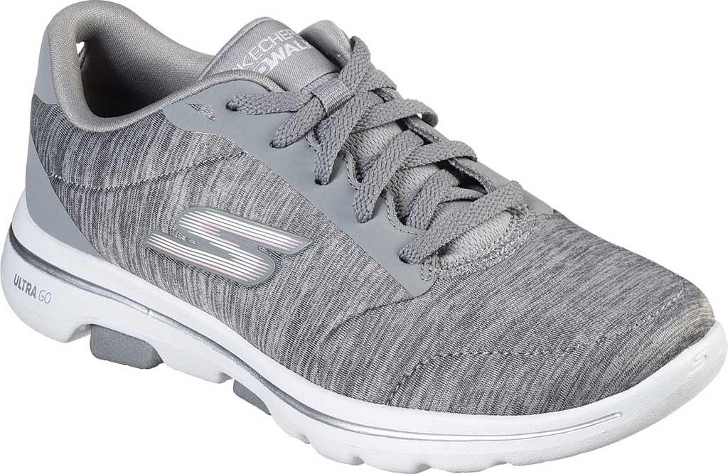 Women's Skechers GOwalk 5 True Sneaker, Gray, large, image 1