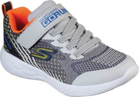Boys' Skechers GOrun 600 Baxtux Sneaker, Black/Gray, large, image 1
