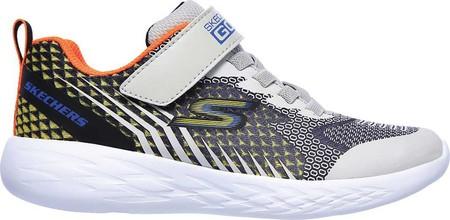 Boys' Skechers GOrun 600 Baxtux Sneaker, Black/Gray, large, image 2
