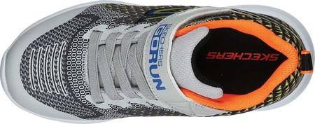 Boys' Skechers GOrun 600 Baxtux Sneaker, Black/Gray, large, image 4