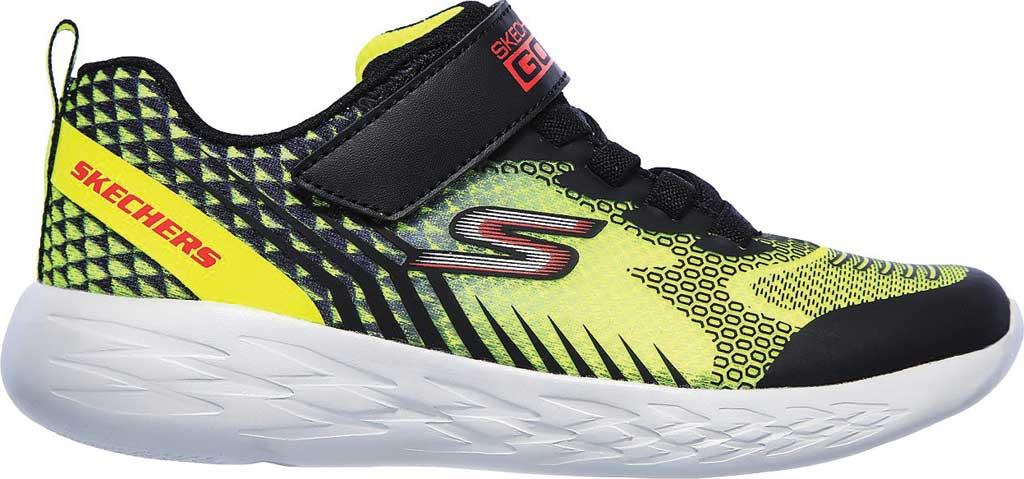 Boys' Skechers GOrun 600 Baxtux Sneaker, Yellow/Black, large, image 2