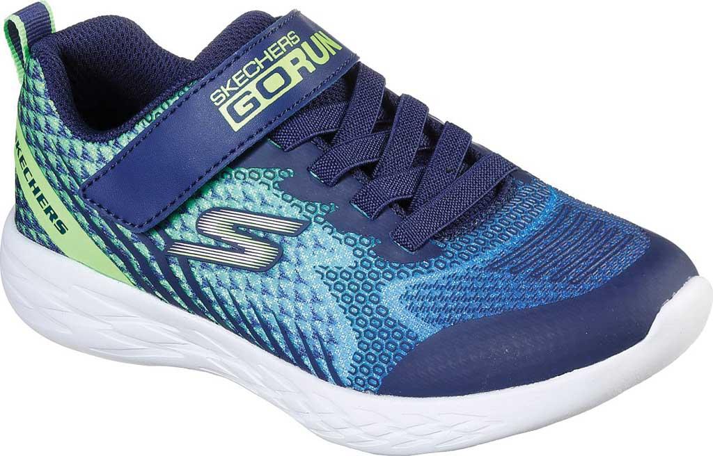 Boys' Skechers GOrun 600 Baxtux Sneaker, Navy/Lime, large, image 1