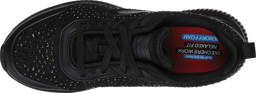 Women's Skechers Work Relaxed Fit Squad Prout SR Sneaker, Black, large, image 4