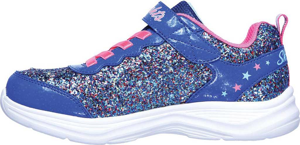 Girls' Skechers S Lights Glimmer Kicks Glitter N' Glow Sneaker, Blue/Neon Pink, large, image 3