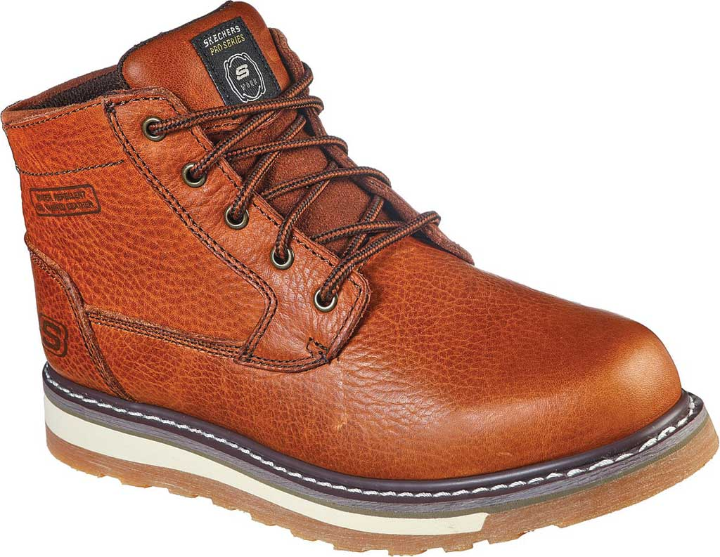 Men's Skechers Relaxed Fit Boydton Emporia Work Boot, Brown/Chestnut, large, image 1