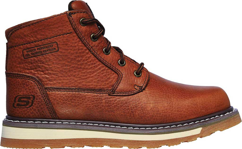 Men's Skechers Relaxed Fit Boydton Emporia Work Boot, Brown/Chestnut, large, image 2