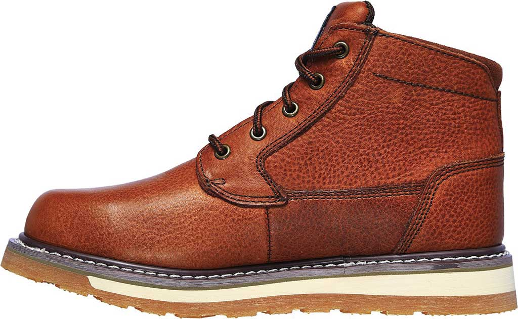 Men's Skechers Relaxed Fit Boydton Emporia Work Boot, Brown/Chestnut, large, image 3