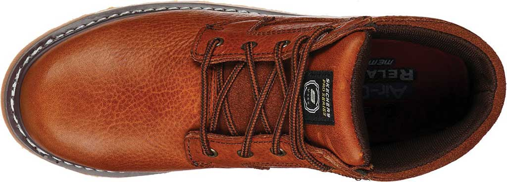 Men's Skechers Relaxed Fit Boydton Emporia Work Boot, Brown/Chestnut, large, image 4