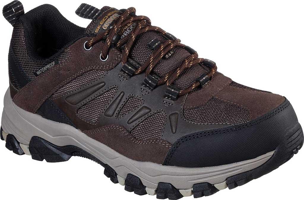 Men's Skechers Relaxed Fit Selmen Enago Hiking Shoe, Chocolate, large, image 1