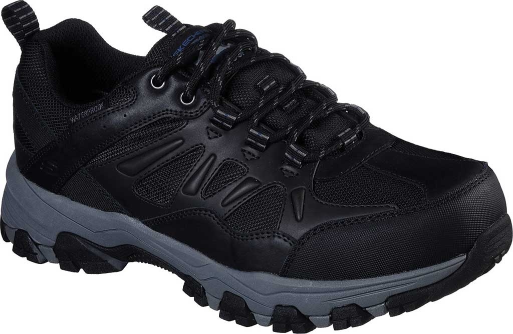 Men's Skechers Relaxed Fit Selmen Enago Hiking Shoe, Black, large, image 1