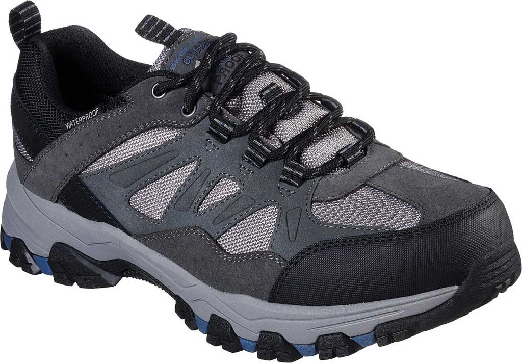 Men's Skechers Relaxed Fit Selmen Enago Hiking Shoe, Gray, large, image 1