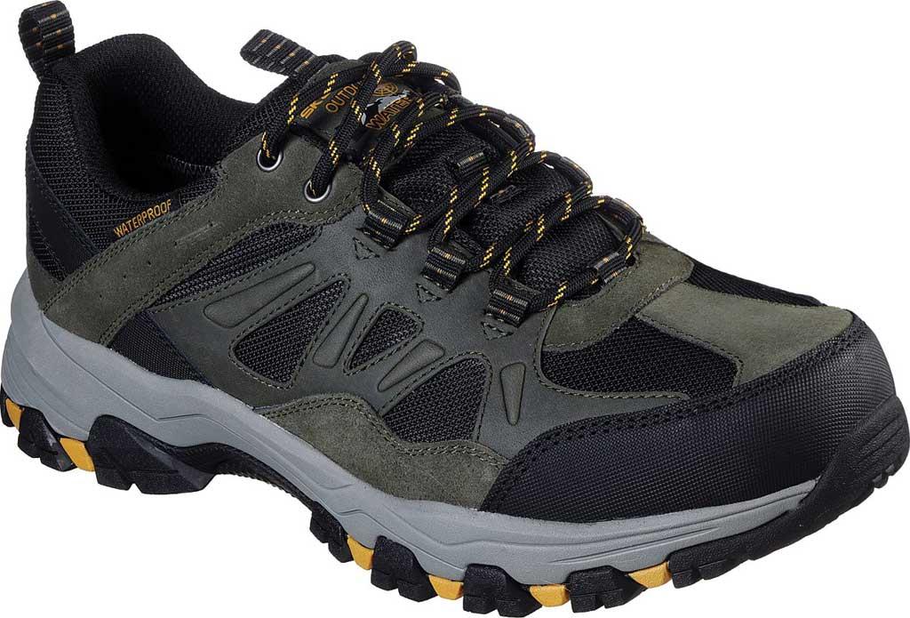Men's Skechers Relaxed Fit Selmen Enago Hiking Shoe, Olive/Black, large, image 1