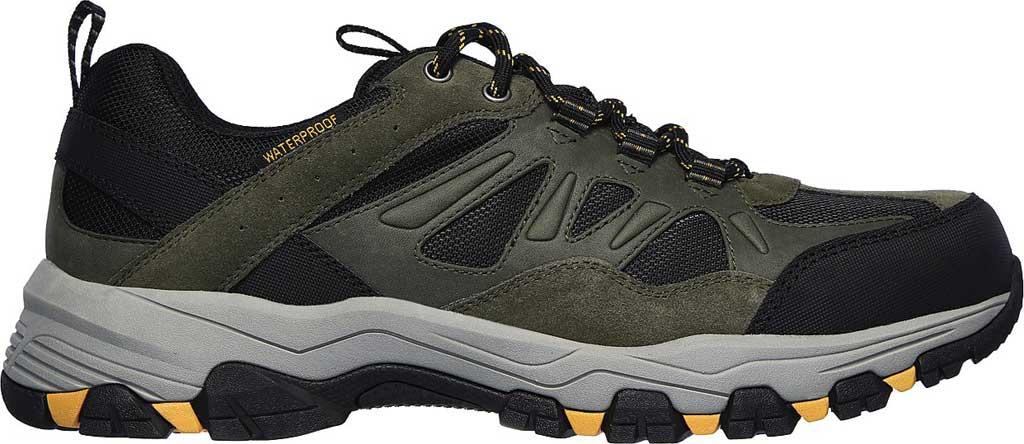 Men's Skechers Relaxed Fit Selmen Enago Hiking Shoe, Olive/Black, large, image 2