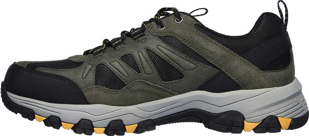 Men's Skechers Relaxed Fit Selmen Enago Hiking Shoe, Olive/Black, large, image 3
