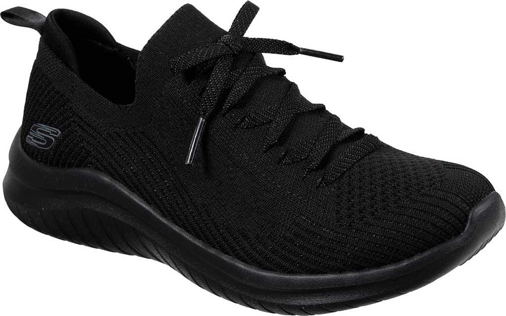 Women's Skechers Ultra Flex 2.0 Flash Illusion Sneaker, Black/Black, large, image 1