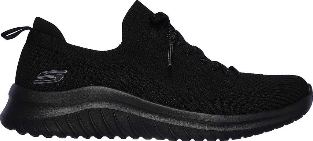 Women's Skechers Ultra Flex 2.0 Flash Illusion Sneaker, Black/Black, large, image 2