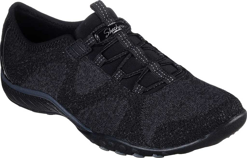 Women's Skechers Relaxed Fit Breathe-Easy Opportuknity Sneaker, Black, large, image 1