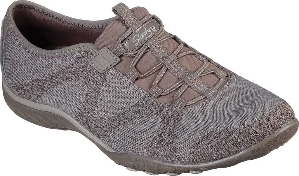 Women's Skechers Relaxed Fit Breathe-Easy Opportuknity Sneaker, Taupe, large, image 1